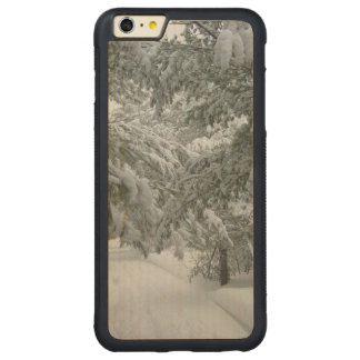 Winter in the Forest Carved Maple iPhone 6 Plus Bumper Case