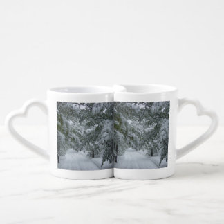 Winter in the Forest Couples Coffee Mug