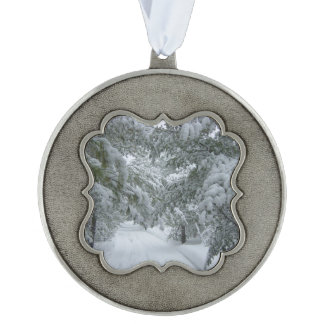 Winter in the Forest Pewter Ornament
