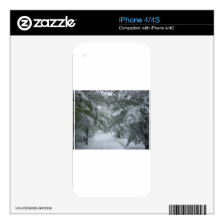 Winter in the Forest Skins For iPhone 4