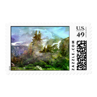 Winter In The Mountains Postage