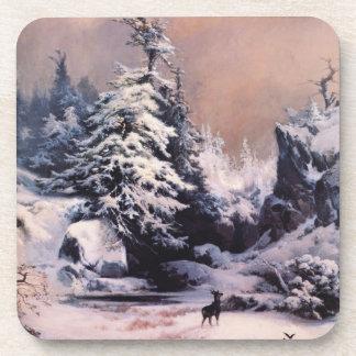 Winter in the Rockies - 1867 Beverage Coaster