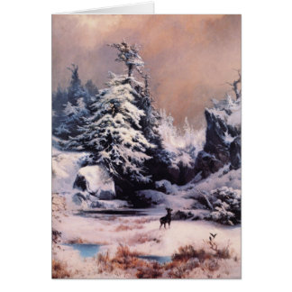 Winter in the Rockies - 1867 Greeting Card
