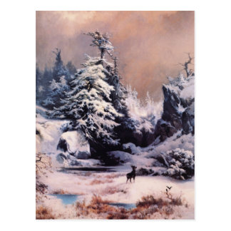 Winter in the Rockies - 1867 Postcard