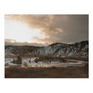 Winter in the Rockies Postcard