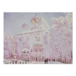 Winter in the Trinity-St. Sergius Lavra Poster
