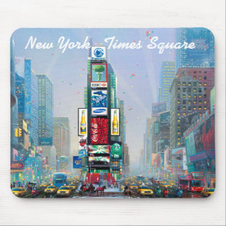 Winter in Times Square Mouse Mat