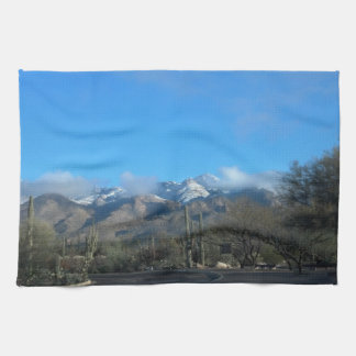 Winter in Tucson Hand Towel