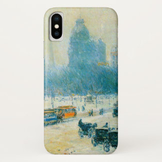 Winter in Union Square by Childe Hassam iPhone X Case
