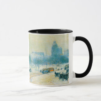 Winter in Union Square by Childe Hassam Mug