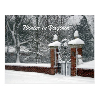Winter in Virginia Postcard