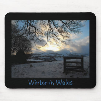 Winter in Wales photo mousemat Mouse Pads