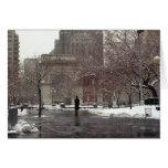 Winter in Washington Square (Season's Greetings) Card