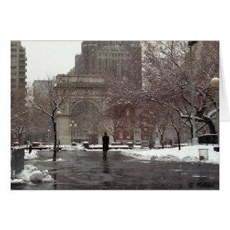 Winter in Washington Square (Season's Greetings) Greeting Card
