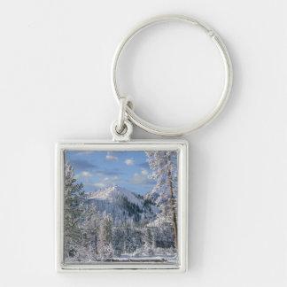 Winter in Yellowstone National Park, Wyoming Keychain