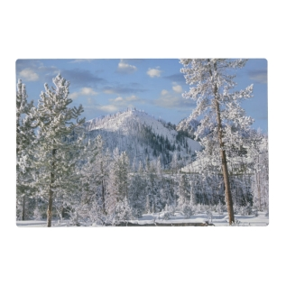 Winter In Yellowstone National Park, Wyoming Placemat at Zazzle