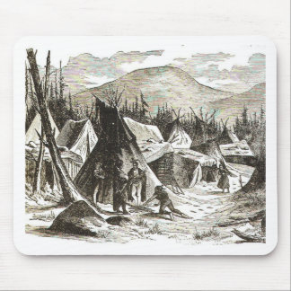 winter_Indian_village Mouse Pads