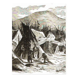 winter_Indian_village Postcard