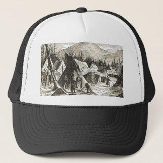winter_Indian_village Trucker Hat