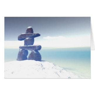Winter inukshuk Card