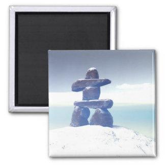 Winter inukshuk Magnet