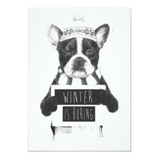 Winter is boring card