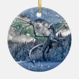 Winter Is Here Ceramic Ornament