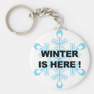 Winter is Here! Liberal Snowflake Keychain