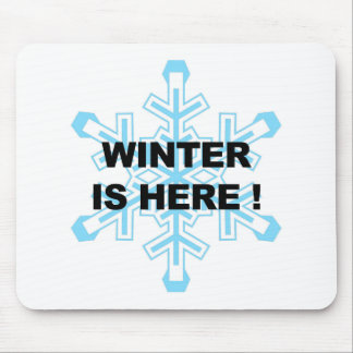 Winter is Here! Liberal Snowflake Mouse Pad