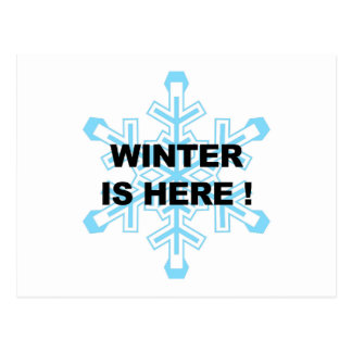 Winter is Here! Liberal Snowflake Postcard
