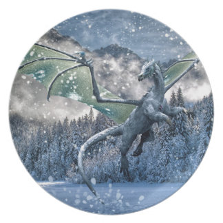 Winter Is Here Party Plate