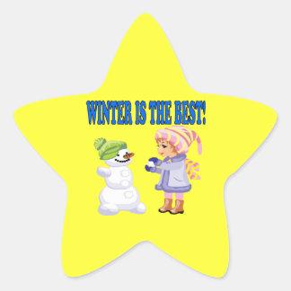 Winter Is The Best Star Sticker