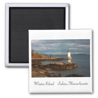 Winter Island Fridge Magnet