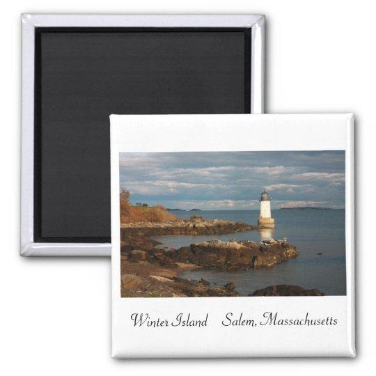 Winter Island Magnet