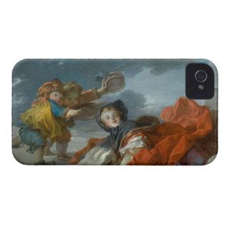 Winter - Jean Honoré Fragonard iPhone 4 Case-Mate Case