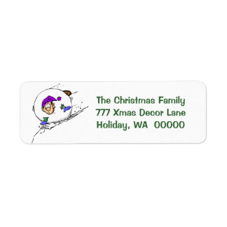 Winter Jokes Personalisable Happy Holidays Labels