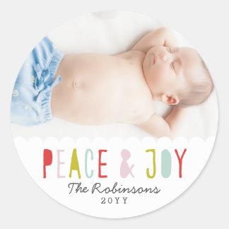 Winter Joy Holiday Classic Round Sticker