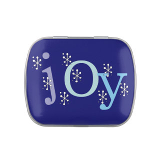 Winter JOY Tins and Jars w Candy Candy Tin