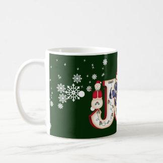 Winter Joy with Snowman Coffee Mug