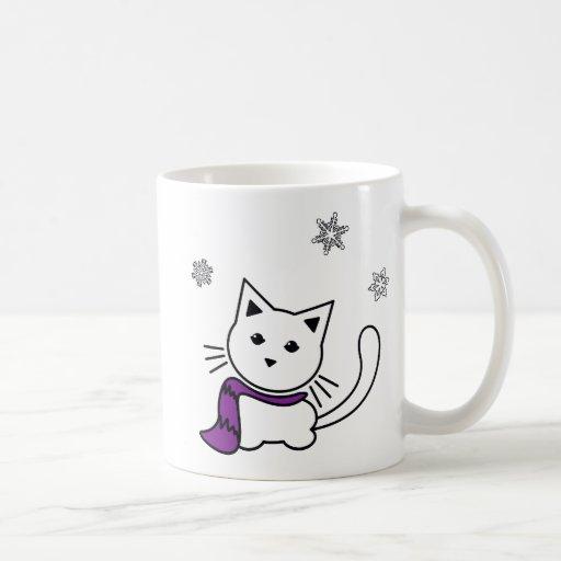 Winter Kitten Mug