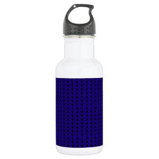 Winter knitted pattern water bottle
