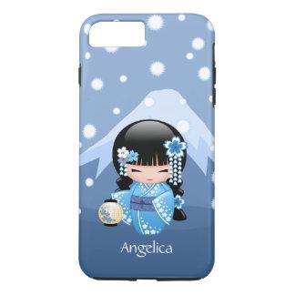 Winter Kokeshi Doll - Blue Mountain Geisha Girl iPhone 8 Plus/7 Plus Case