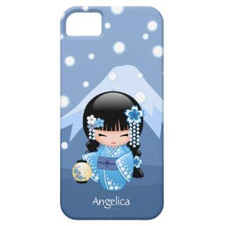 Winter Kokeshi Doll - Blue Mountain Geisha Girl iPhone SE/5/5s Case