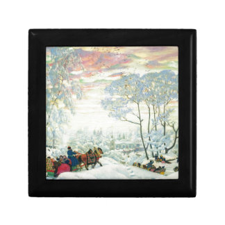 Winter._Kustodiev Jewelry Box