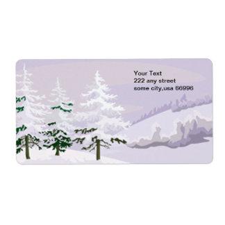 Winter label