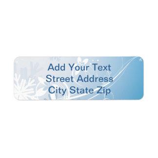 Winter Custom Return Address Labels