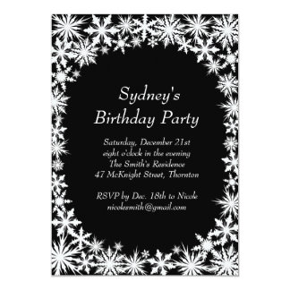 Winter Lace Birthday Party Invitation