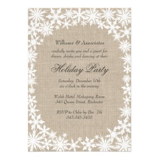 Winter Lace Corporate Holiday Party Invitation