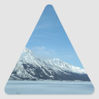 winter lake and mountains sticker