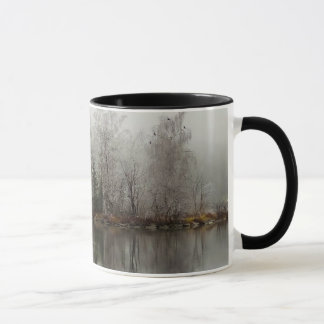 Winter Lake and Tree Scene from Austria Mug